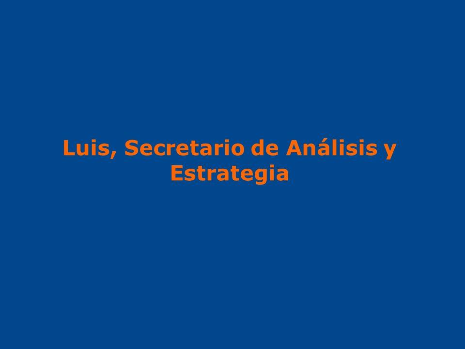 Luis, Secretario de Análisis y Estrategia