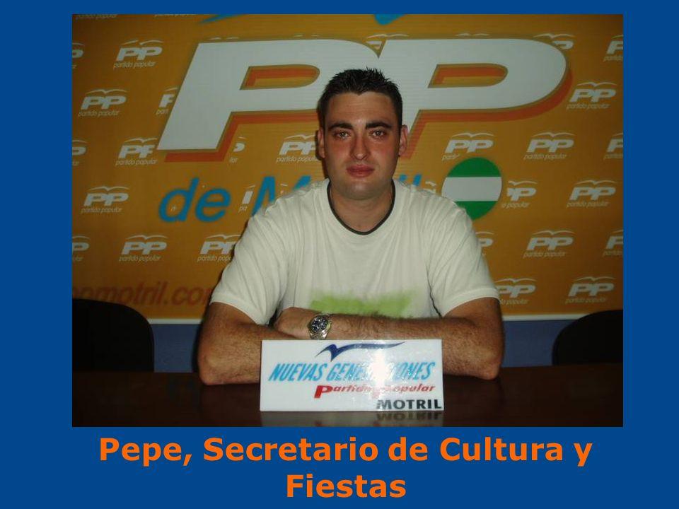 Pepe, Secretario de Cultura y Fiestas