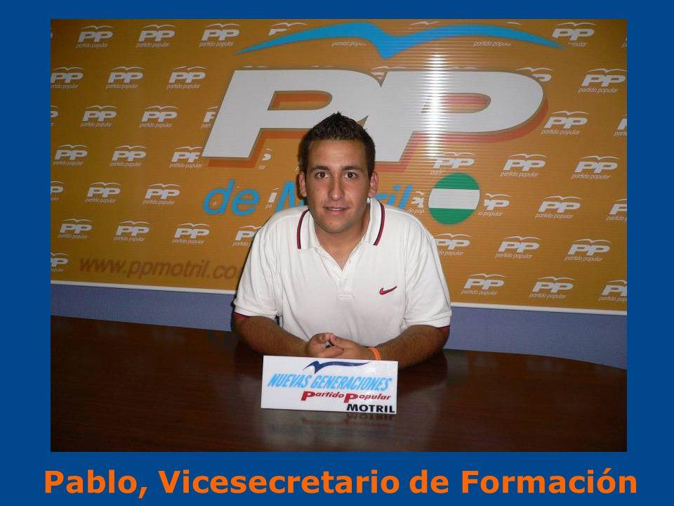 Pablo, Vicesecretario de Formación