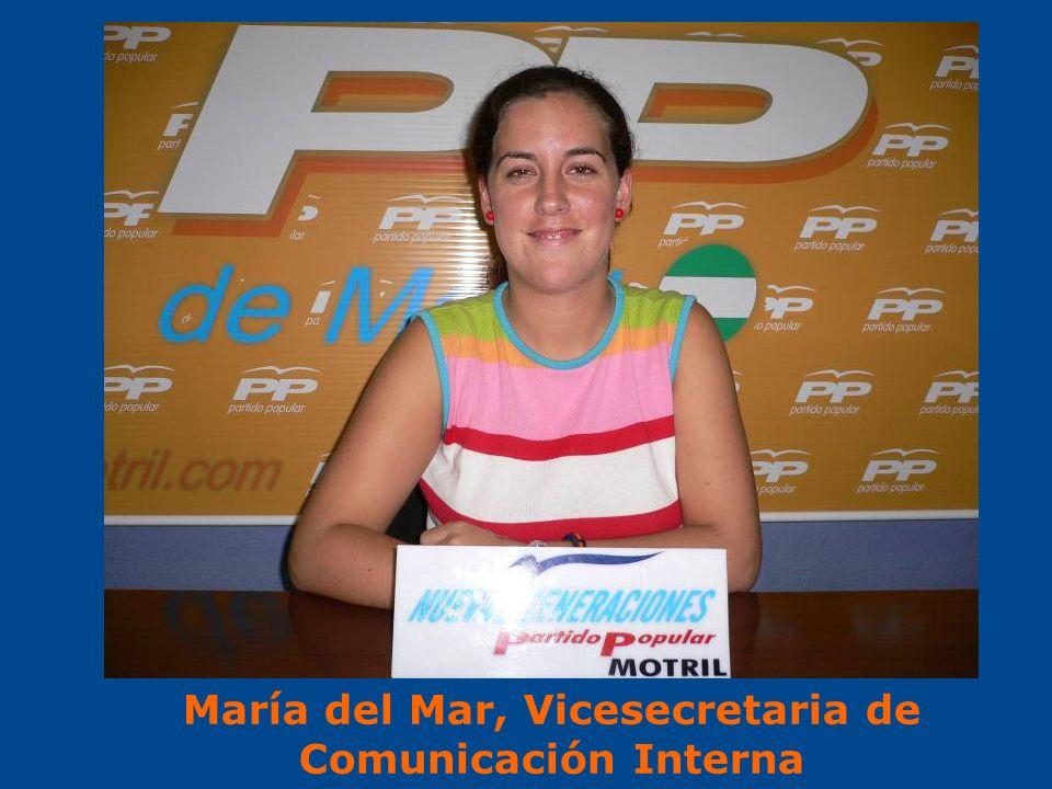 María del Mar, Vicesecretaria de Comunicación Interna