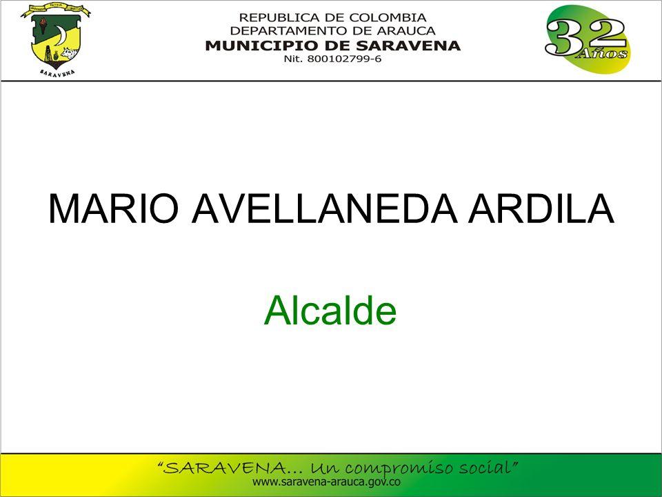 MARIO AVELLANEDA ARDILA Alcalde
