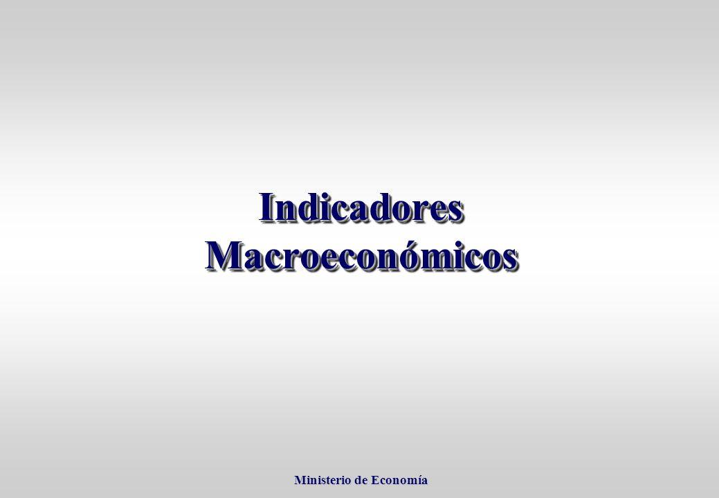 Ministerio de Economía Ministerio de Economía Indicadores Macroeconómicos