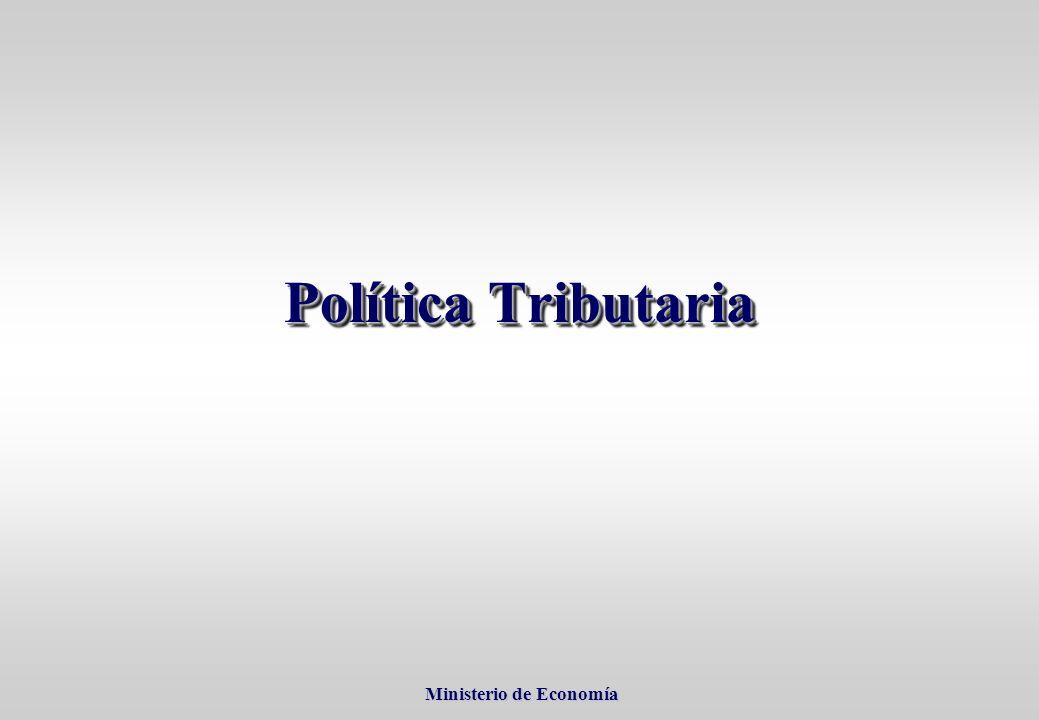 Ministerio de Economía Ministerio de Economía Política Tributaria