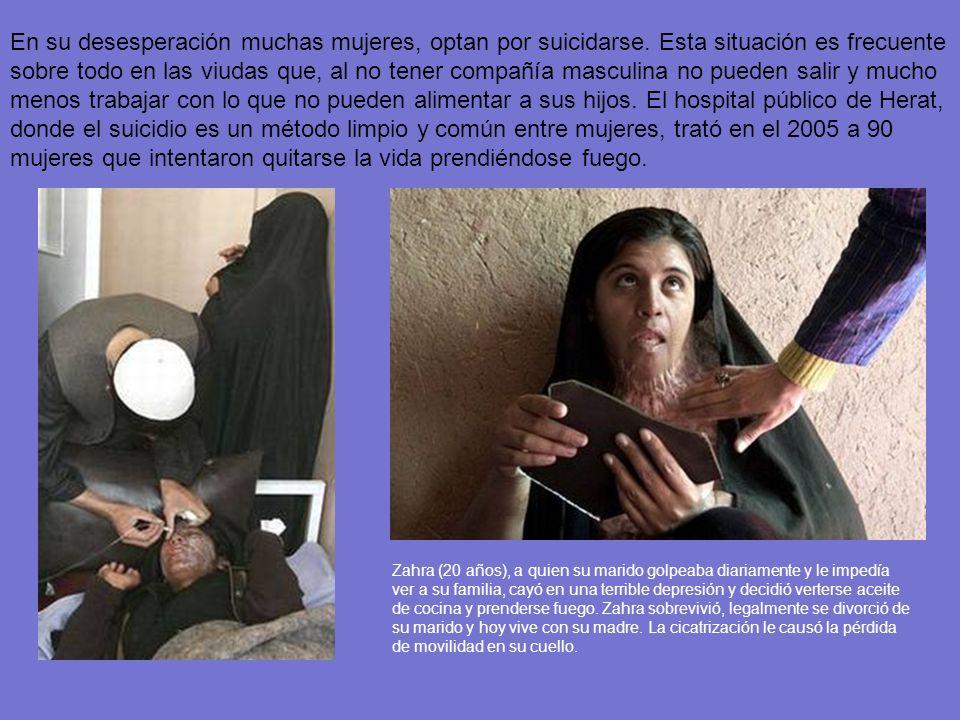 Actualmente hay miles de viudas que tienen como única opción mendigar, enloquecer, prostituirse, o suicidarse, porque la ley les niega a heredar los b