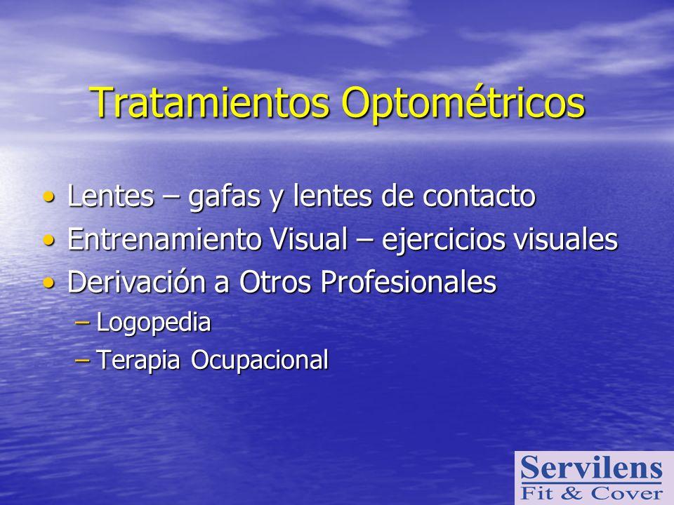 Tratamientos Optométricos Lentes – gafas y lentes de contactoLentes – gafas y lentes de contacto Entrenamiento Visual – ejercicios visualesEntrenamien