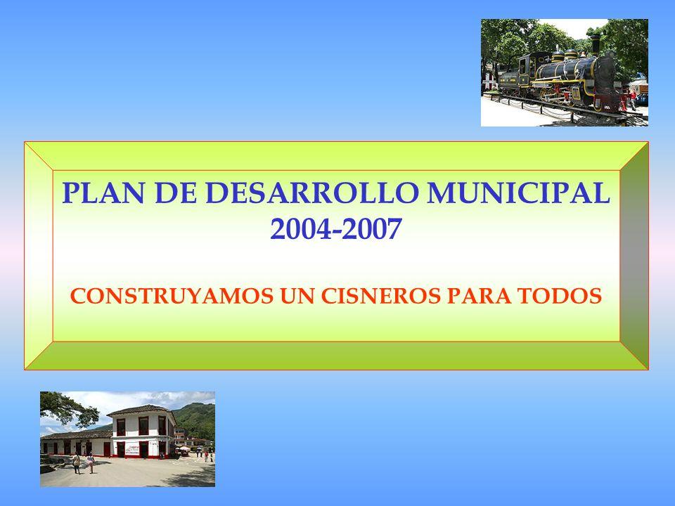 PLAN DE DESARROLLO MUNICIPAL 2004-2007 CONSTRUYAMOS UN CISNEROS PARA TODOS