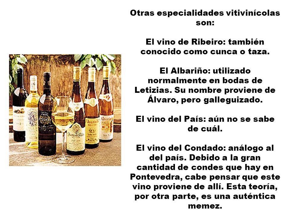 BEBIDAS Los caldos gallegos (vinos, en este caso, pero dicho en fisno) tienen como estrella la Estrella Galicia, que principalmente consumen los alema