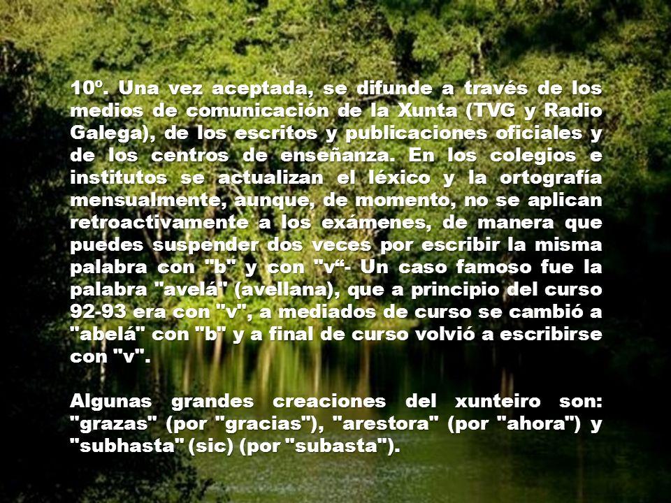 7º. Si aún así no se consigue una palabra diferente de la castellana, se acepta la primera, pero se le introduce algún cambio ortográfico que la difer