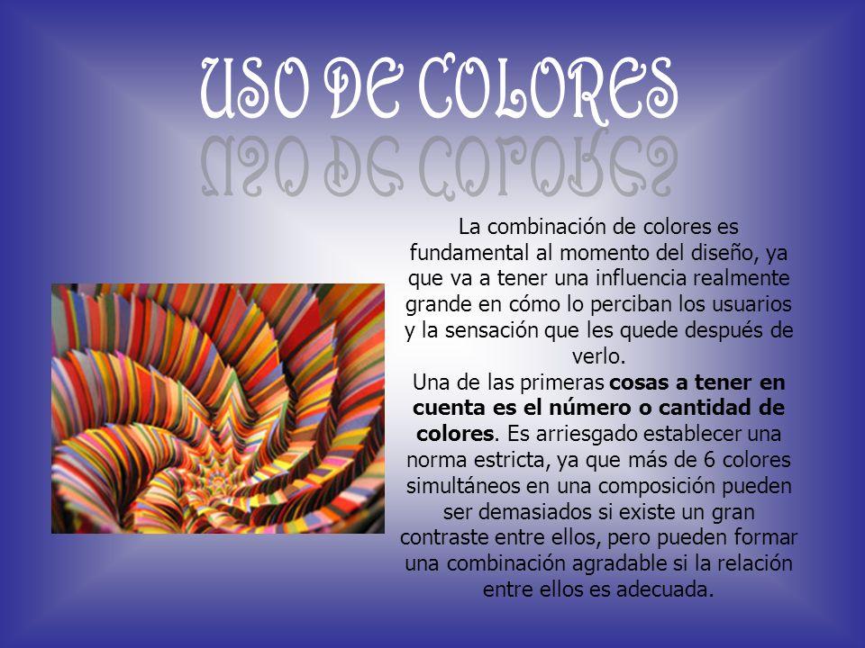 La combinación de colores es fundamental al momento del diseño, ya que va a tener una influencia realmente grande en cómo lo perciban los usuarios y l