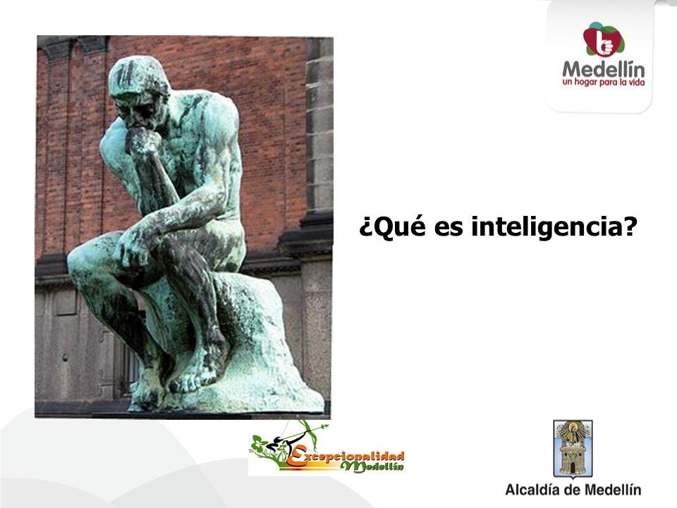 ¿Qué es inteligencia?
