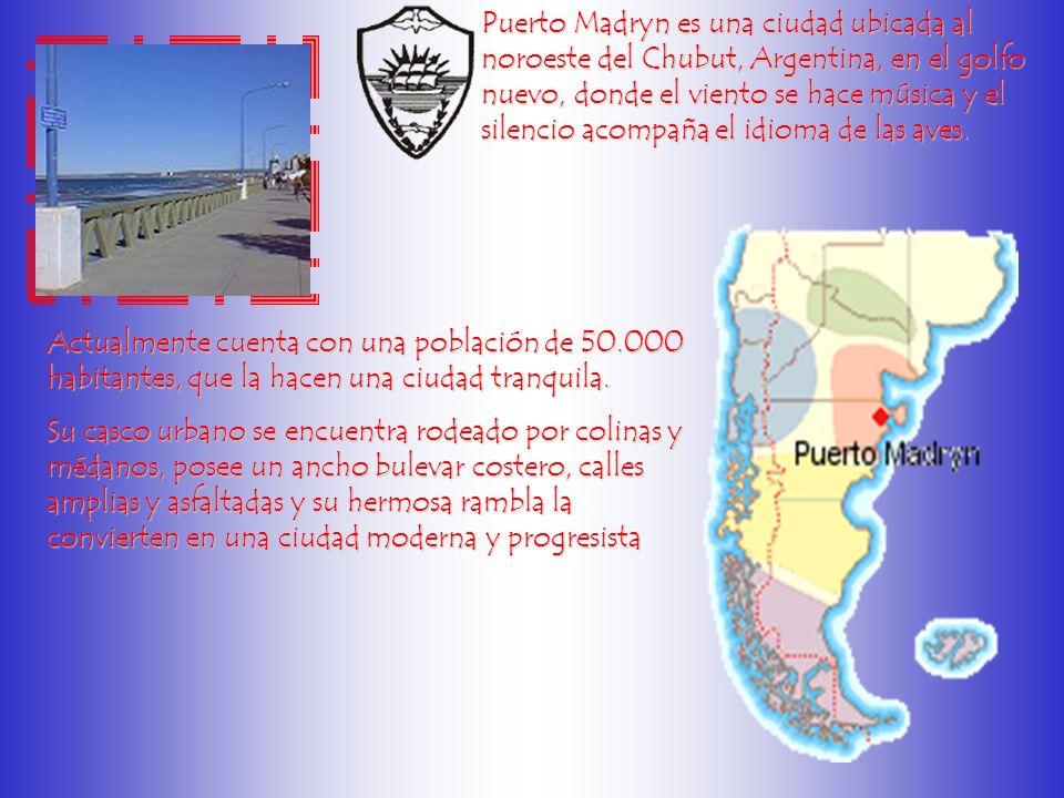 Puerto Madryn es una ciudad ubicada al noroeste del Chubut, Argentina, en el golfo nuevo, donde el viento se hace música y el silencio acompaña el idioma de las aves.