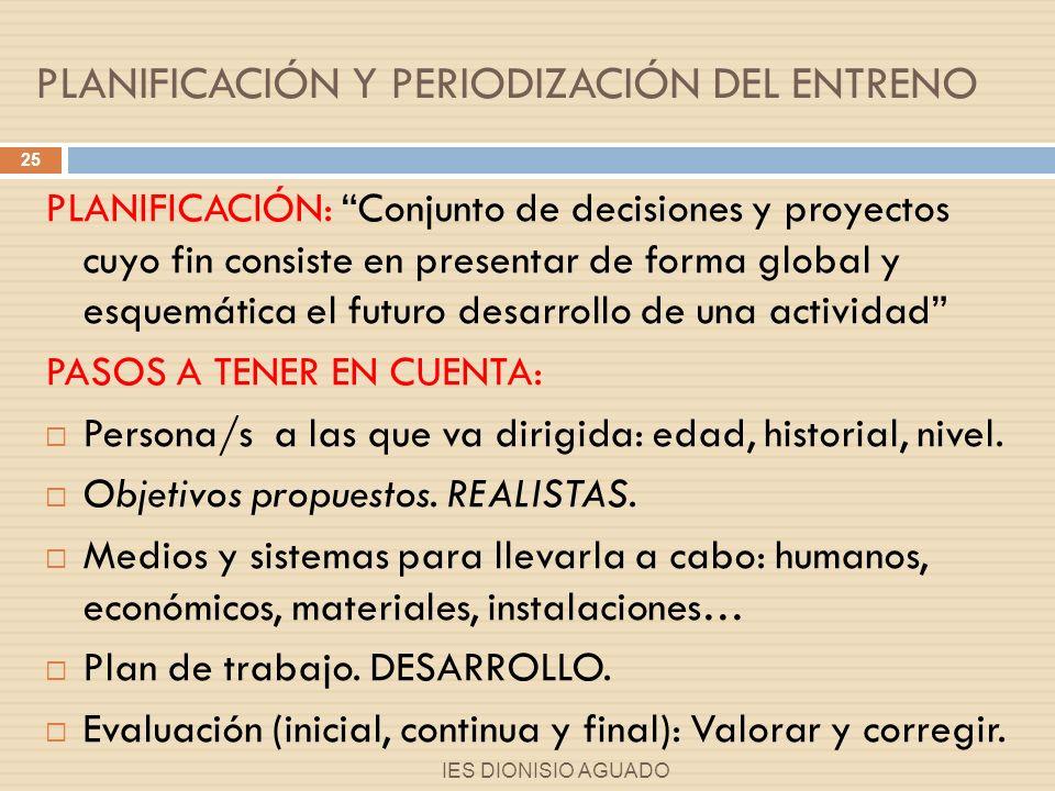 PLANIFICACIÓN Y PERIODIZACIÓN DEL ENTRENO 1.MACROCICLO (1 año).