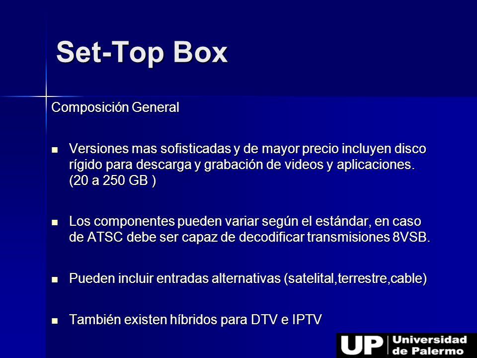 Composición General Versiones mas sofisticadas y de mayor precio incluyen disco rígido para descarga y grabación de videos y aplicaciones. (20 a 250 G
