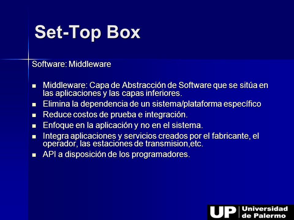 Software: Middleware Middleware: Capa de Abstracción de Software que se sitúa en las aplicaciones y las capas inferiores. Middleware: Capa de Abstracc