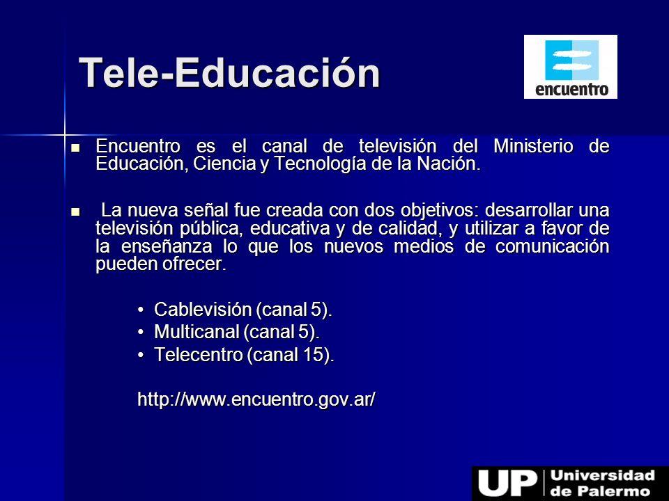 Encuentro es el canal de televisión del Ministerio de Educación, Ciencia y Tecnología de la Nación. Encuentro es el canal de televisión del Ministerio