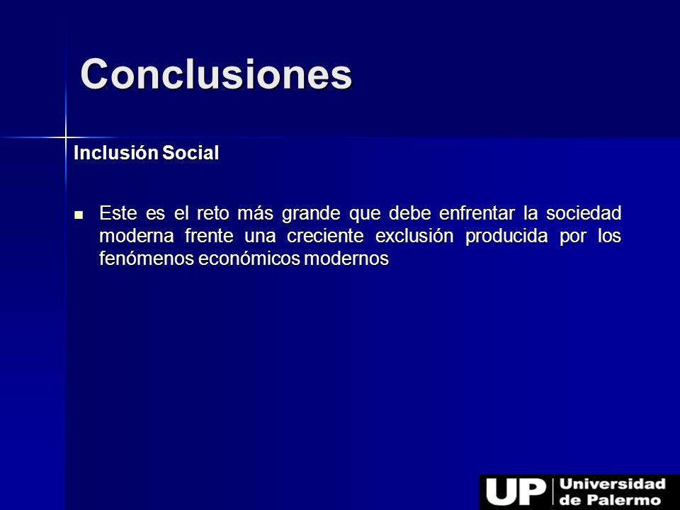 Inclusión Social Este es el reto más grande que debe enfrentar la sociedad moderna frente una creciente exclusión producida por los fenómenos económic