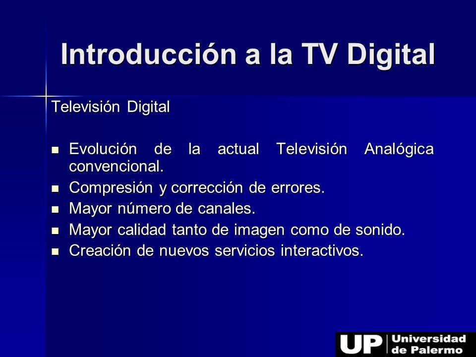 Introducción a la TV Digital Televisión Digital Evolución de la actual Televisión Analógica convencional. Evolución de la actual Televisión Analógica