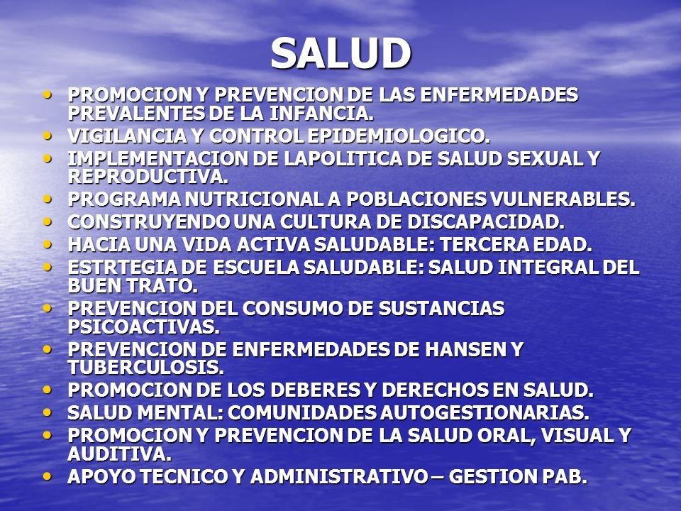SALUD PROMOCION Y PREVENCION DE LAS ENFERMEDADES PREVALENTES DE LA INFANCIA. PROMOCION Y PREVENCION DE LAS ENFERMEDADES PREVALENTES DE LA INFANCIA. VI