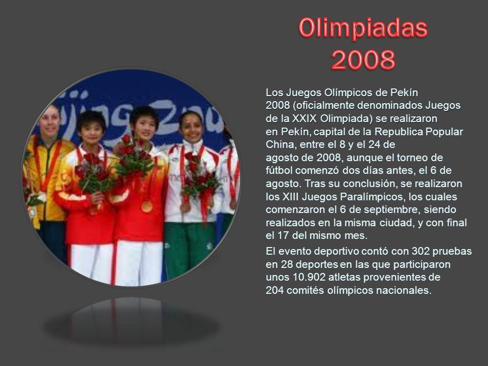 Los Juegos Olímpicos de Pekín 2008 (oficialmente denominados Juegos de la XXIX Olimpiada) se realizaron en Pekín, capital de la Los Juegos Olímpicos d