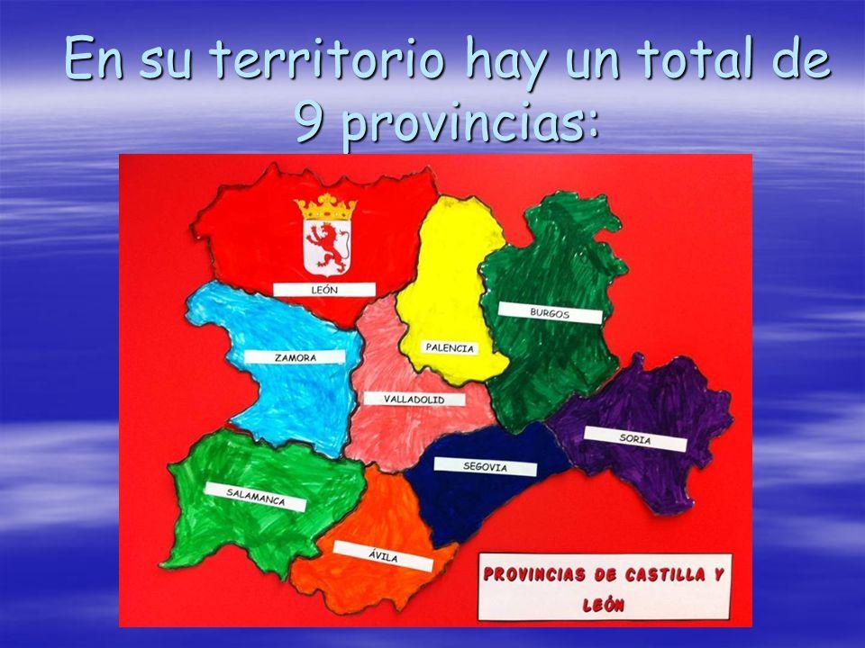 En su territorio hay un total de 9 provincias: