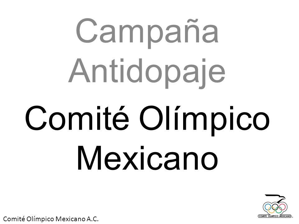 Comité Olímpico Mexicano A.C.El doping no debe estar en nuestros atletas.