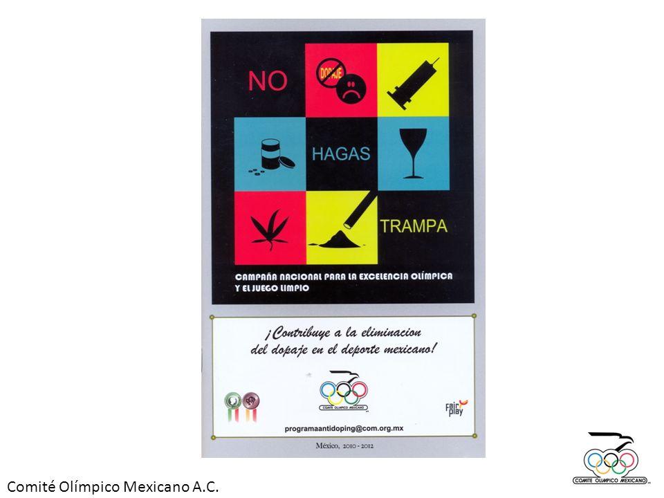 En los pasados Juegos Centroamericanos y del Caribe Mayagüez 2010, se llevaron a cabo más de 600 exámenes antidoping, a México le correspondieron más de 100, o sea que 1 de cada 6 exámenes fue para nuestros atletas.