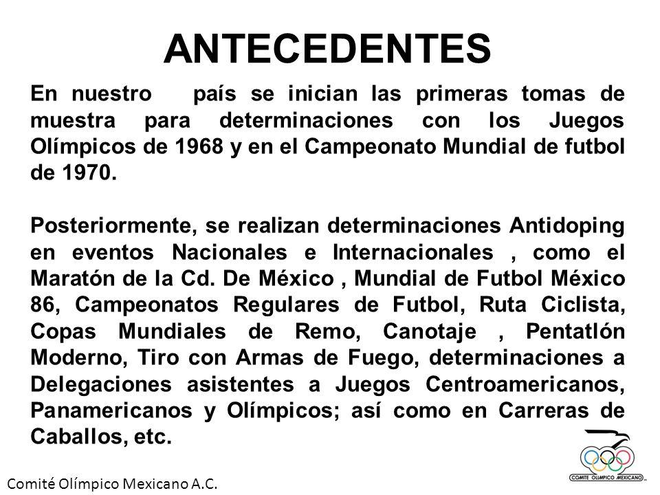 Comité Olímpico Mexicano A.C.Las sustancias y métodos prohibidos por el COI / WADA y el COM.