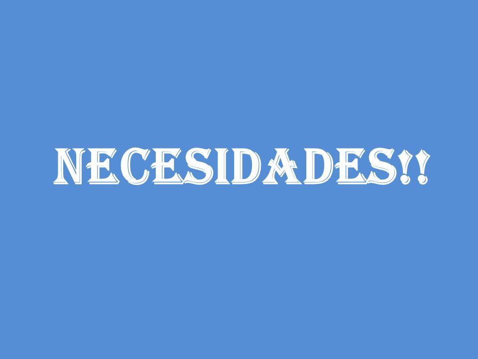 NECESIDADES!!