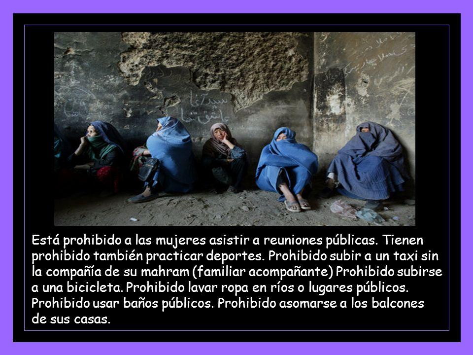 Tienen prohibido usar pantalones acampanados, aunque sea debajo de la burka.