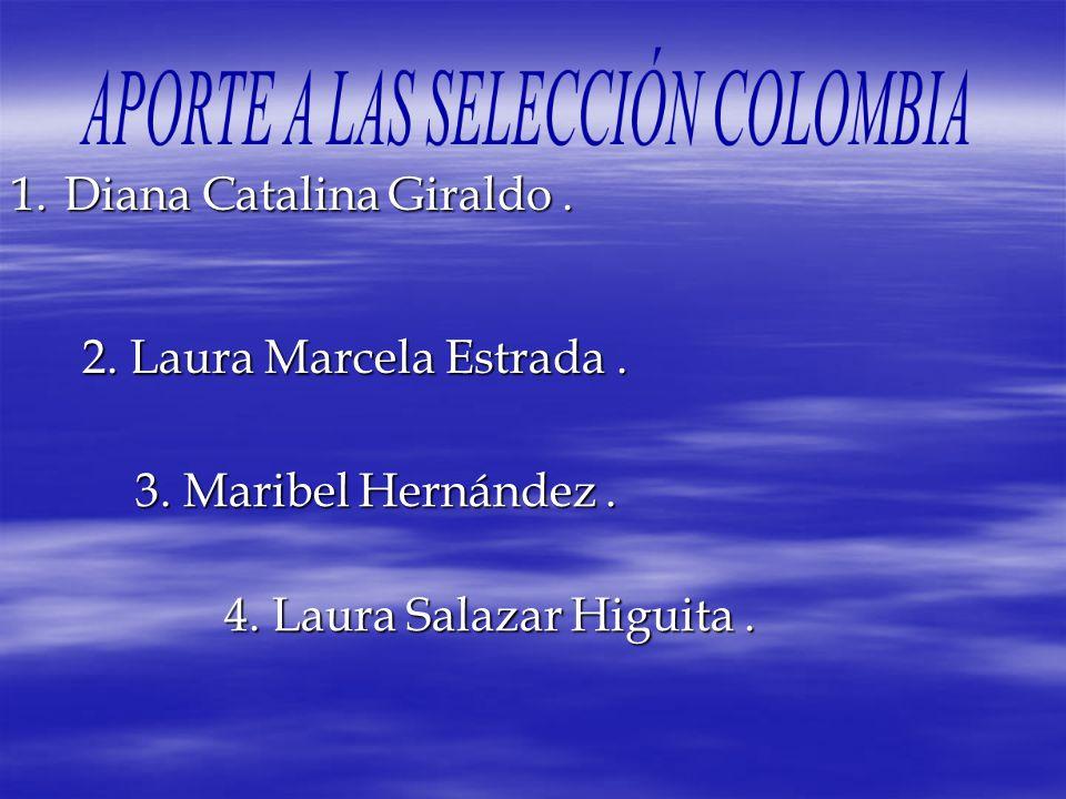 1.Diana 1.Diana Catalina Giraldo. 2. Laura Marcela Estrada. 3. Maribel Hernández. 4. Laura Salazar Higuita.