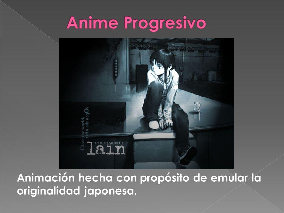 Animación hecha con propósito de emular la originalidad japonesa.