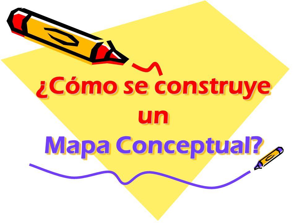 ¿Cómo se construye un Mapa Conceptual?