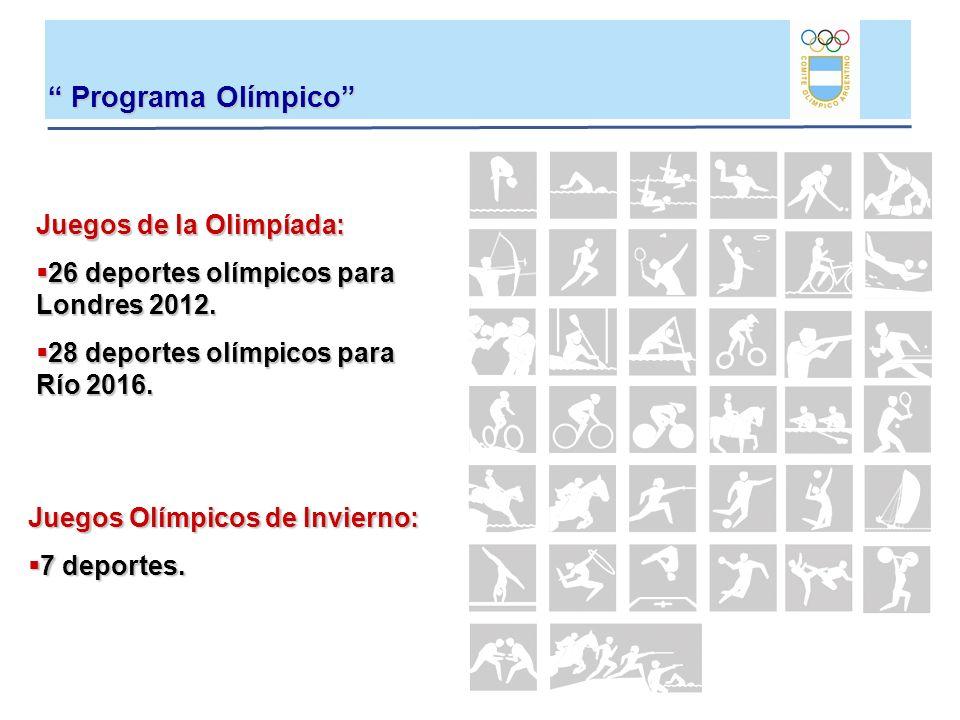 Programa Olímpico Programa Olímpico Juegos de la Olimpíada: 26 deportes olímpicos para Londres 2012. 26 deportes olímpicos para Londres 2012. 28 depor