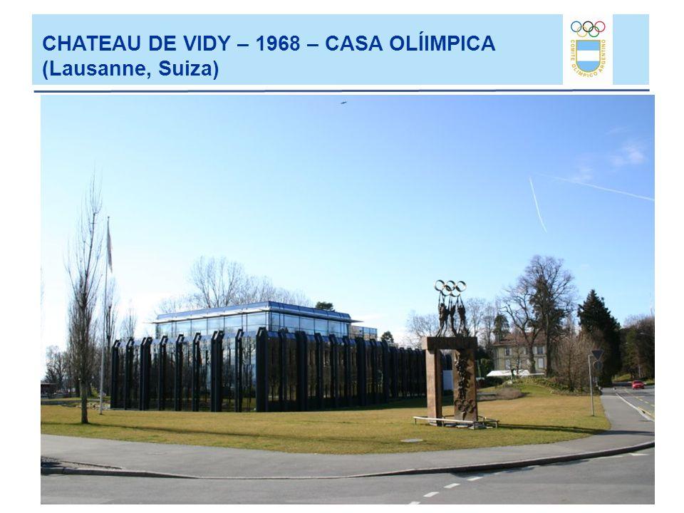 CHATEAU DE VIDY – 1968 – CASA OLÍIMPICA (Lausanne, Suiza)