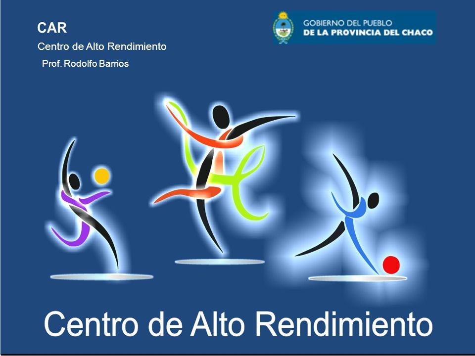 CAR Centro de Alto Rendimiento Coach Rodolfo Barrios Deporte Escolar 1.