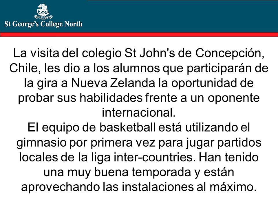 La visita del colegio St John's de Concepción, Chile, les dio a los alumnos que participarán de la gira a Nueva Zelanda la oportunidad de probar sus h