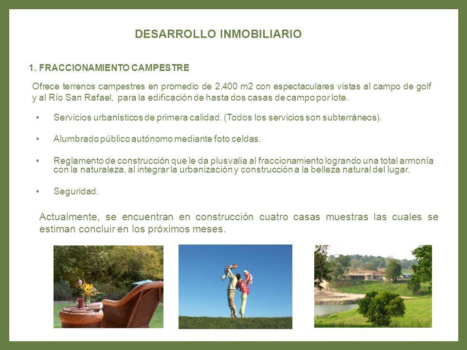 En una extensión de 70 hectáreas se podrá disfrutar del espectacular campo de golf de 18 hoyos par 72.