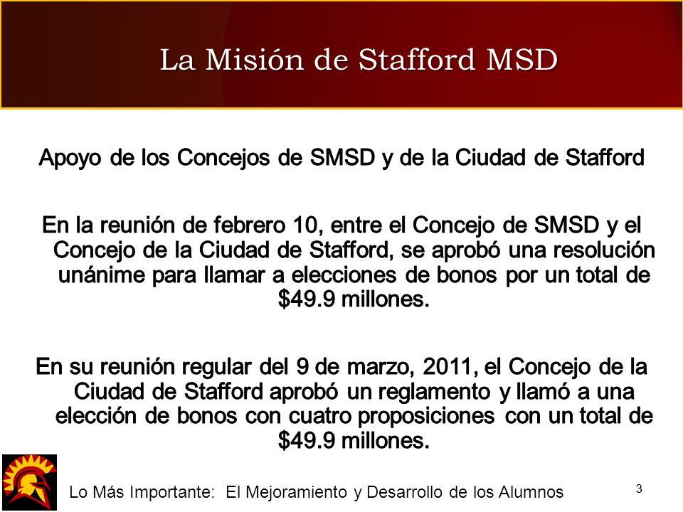 fLo Más Importante: El Mejoramiento y Desarrollo de los Alumnos 33 La Misión de Stafford MSD
