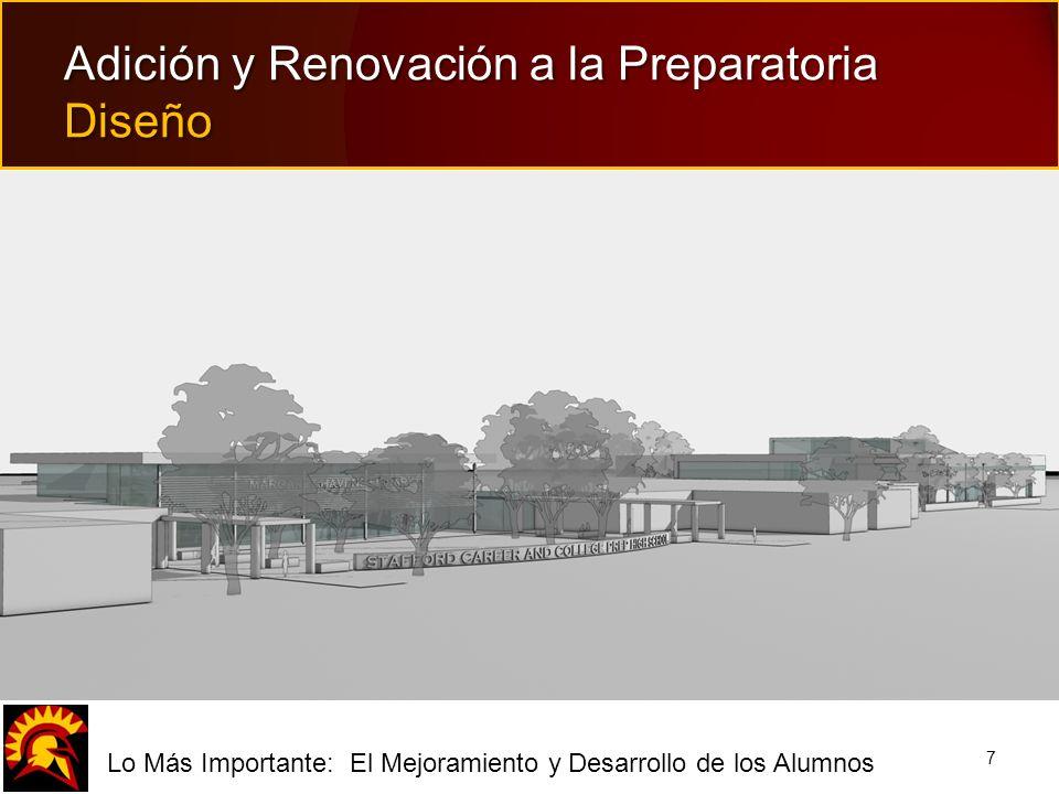 fLo Más Importante: El Mejoramiento y Desarrollo de los Alumnos 7 Adición y Renovación a la Preparatoria Diseño