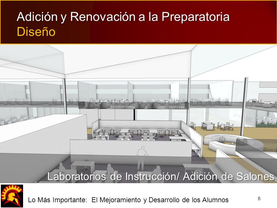 fLo Más Importante: El Mejoramiento y Desarrollo de los Alumnos 8 Adición y Renovación a la Preparatoria Diseño Laboratorios de Instrucción/ Adición d