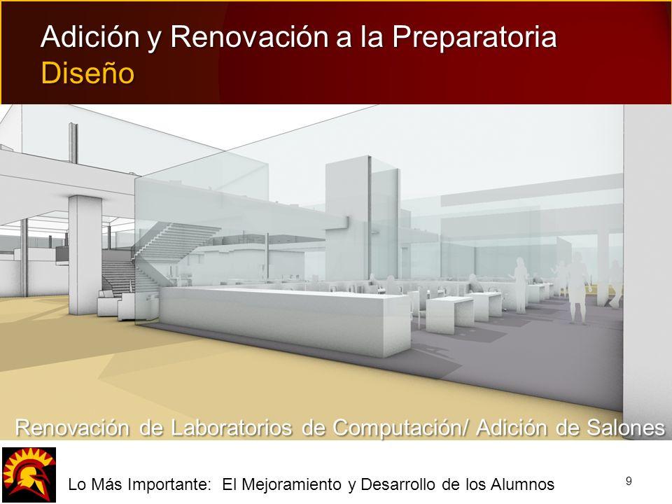 fLo Más Importante: El Mejoramiento y Desarrollo de los Alumnos 9 Adición y Renovación a la Preparatoria Diseño Renovación de Laboratorios de Computac