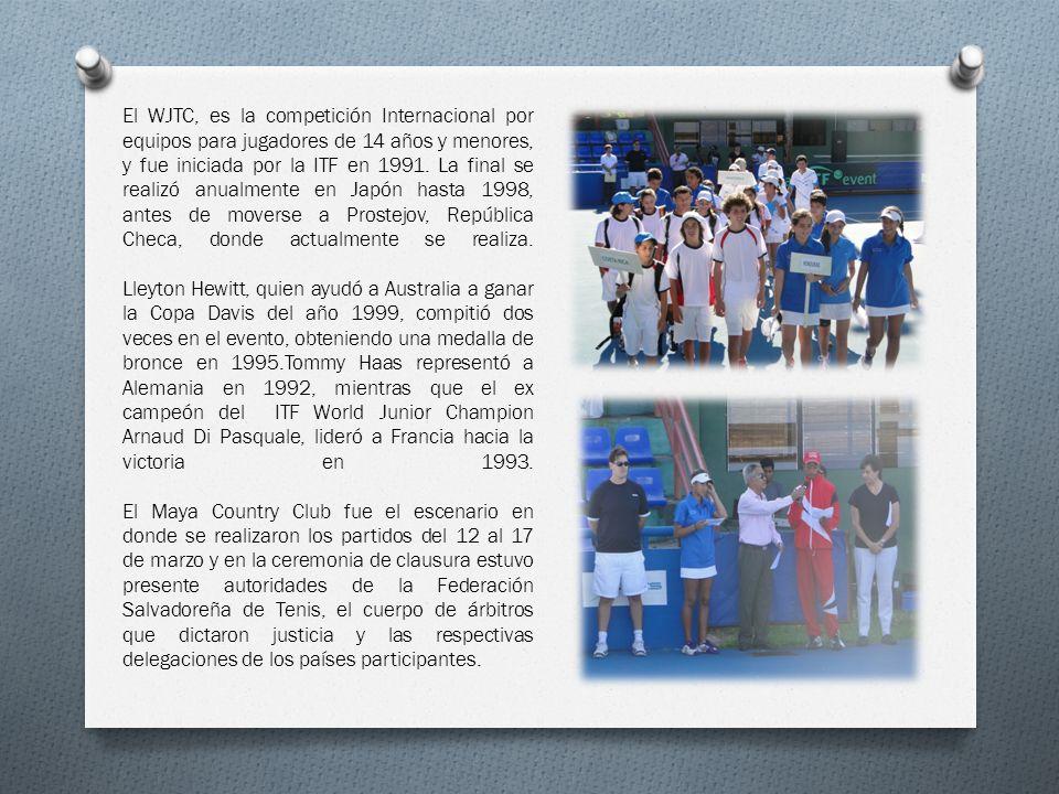 El WJTC, es la competición Internacional por equipos para jugadores de 14 años y menores, y fue iniciada por la ITF en 1991. La final se realizó anual