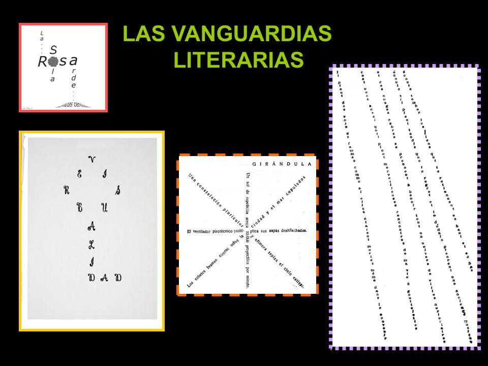 El nombre VANGUARDIA designa a aquellos movimientos artísticos y literarios de principios del siglo XX que se oponen al pasado y proponen, generalmente con manifiestos, nuevos caminos y nuevas maneras de entender el arte y la literatura.