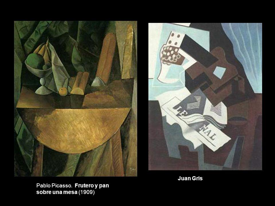 Pablo Picasso. Frutero y pan sobre una mesa (1909) Juan Gris