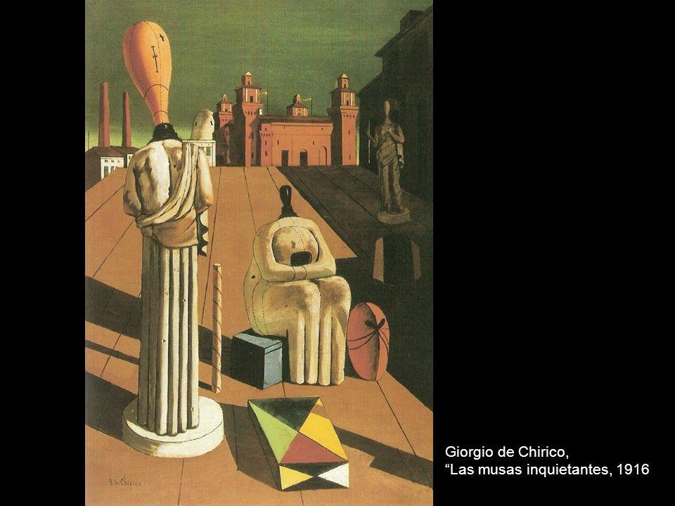 Giorgio de Chirico, Las musas inquietantes, 1916