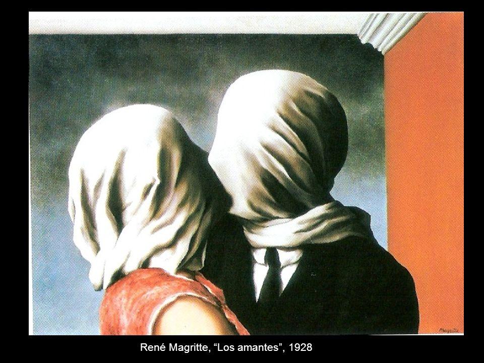René Magritte, Los amantes, 1928