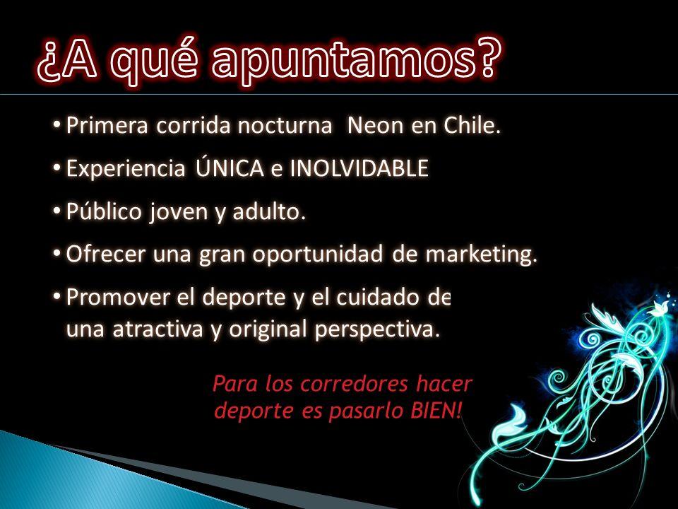 Primera corrida nocturna Neon en Chile. Primera corrida nocturna Neon en Chile.