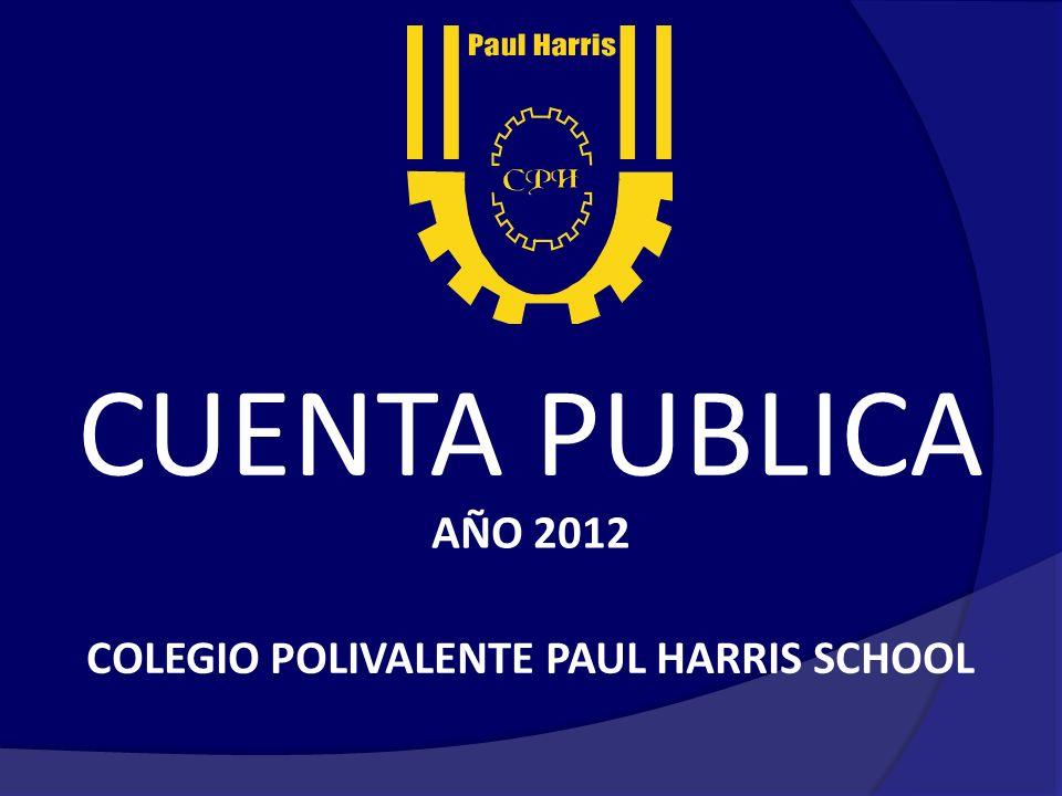 CUENTA PUBLICA AÑO 2012 COLEGIO POLIVALENTE PAUL HARRIS SCHOOL