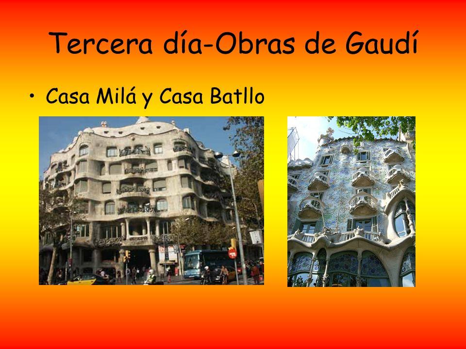 Tercera día-Obras de Gaudí Casa Milá y Casa Batllo