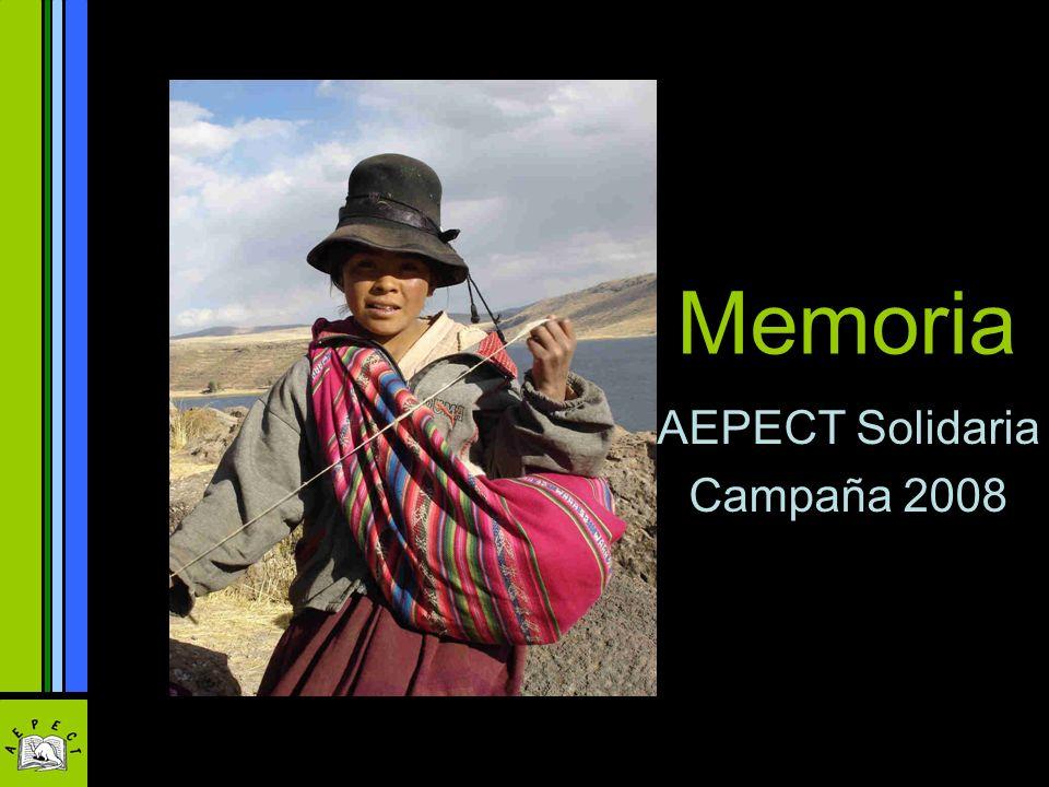 Memoria AEPECT Solidaria Campaña 2008